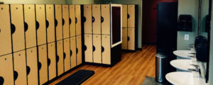 Locker room at Milton Hill Sport & Spa